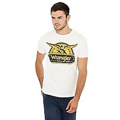 Wrangler - Off white eagle print cotton t-shirt