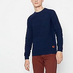 Wrangler - Navy Wool Rich Knitted Jumper