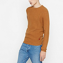 Wrangler - Tan Wool Rich Knitted Jumper