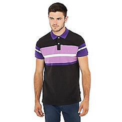 Wrangler - Black stripe print polo shirt