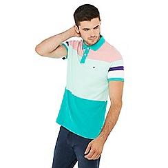 Wrangler - Green stripe print polo shirt