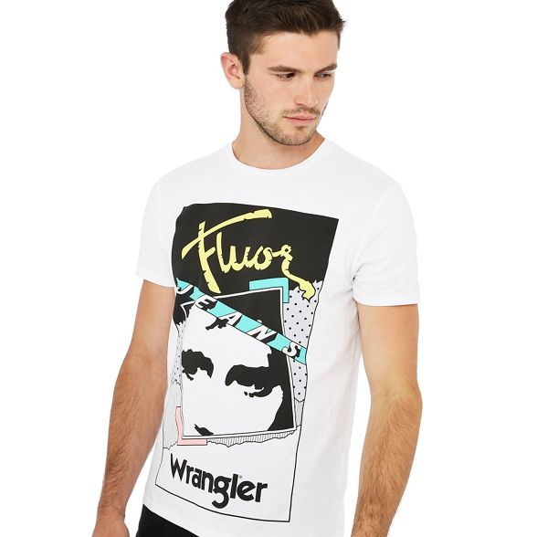 shirt Wrangler White t cotton print graphic gPXrSwP