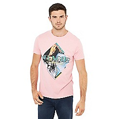 Wrangler - Pink graphic print cotton t-shirt