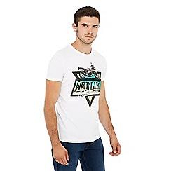 Wrangler - White motorbike print cotton t-shirt