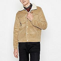 Wrangler - Tan Corduroy Sherpa Lined Jacket