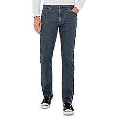 Lee - Big and tall grey 'brooklyn' mid wash straight fit jeans