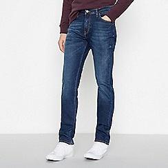 Lee - Blue Mid Wash 'Rider' Slim Fit Jeans