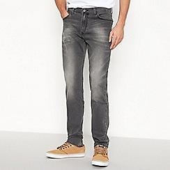 Lee - Grey 'Rider' slim fit jeans