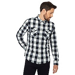 Lee - Black and white check slim fit western shirt