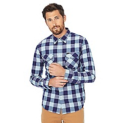 Lee - Blue check slim fit western shirt