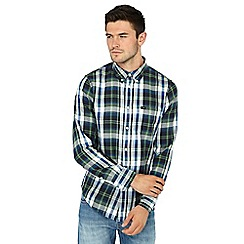 Lee - Green checked long sleeve regular fit shirt