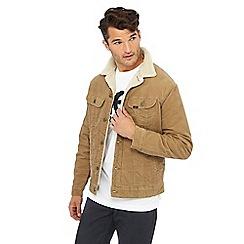 Lee - Beige corduroy sherpa jacket
