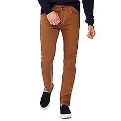 G-Star - Tan mid wash '3301' slim fit jeans