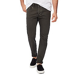 G-Star - Green mid wash '3301' slim fit jeans