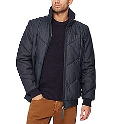 G-Star - Navy chambray quilted bomber jacket