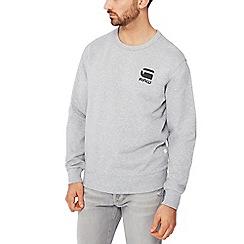 G-Star - Grey logo print sweatshirt