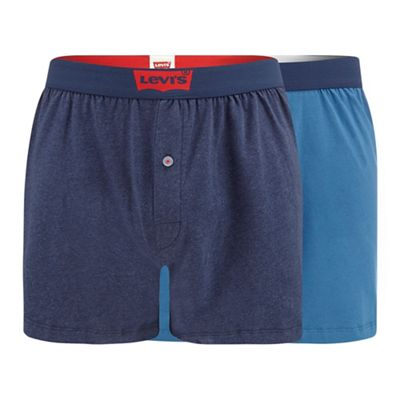 levi's 2 pack navy jersey boxers