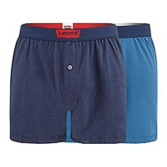 Levi's - 2 pack navy jersey boxers