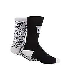 Levi's - 2 pack black pattered sports logo socks