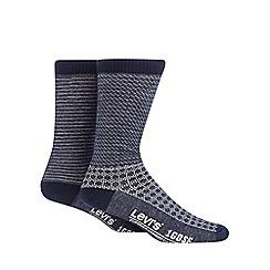 Levi's - 2 pack navy printed socks