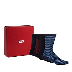 Levi's - 4 pack navy plain and striped socks