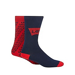 Levi's - 2 pack red printed socks