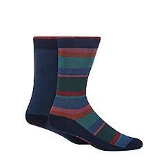 Levi's - 2 pack blue micro stripe printed socks