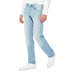 Levi's - Big and tall pale blue '501 tomahawk' light wash straight leg jeans
