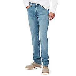 Levi's - Big and tall light blue light wash '511' 'Sun Fade' slim fit jeans
