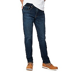 Levi's - Dark blue mid wash '502' 'Pauper' tapered fit jeans