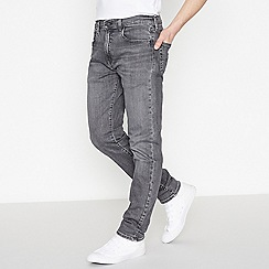 Levi's - Grey Mid Wash '502' 'Gobbler' Tapered Fit Jeans