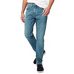 Levi's - Blue mid wash '502' 'Green Beer' tapered fit jeans