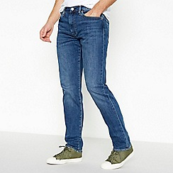 Levi's - Dark blue mid wash '502 Crocodile Adapt' tapered fit jeans