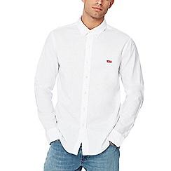 Levi's - White 'Housemark' long sleeve regular fit shirt
