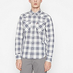 Levi's - Grey Checked 'Barstow' Long Sleeves Regular Fit Shirt