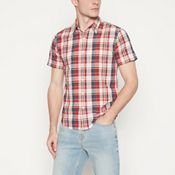 577051b44 Levi s - Red Checked  Barstow  Short Sleeve Regular Fit Shirt