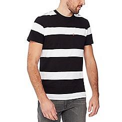 Levi's - Black stripe print 'Sunset' cotton t-shirt
