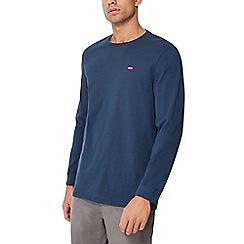 Levi's - Dark blue logo applique long sleeve t-shirt
