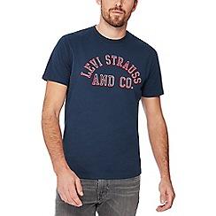Levi's - Navy logo print cotton t-shirt