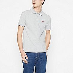 Levi's - Grey Logo Applique Cotton Polo Shirt