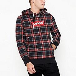Levi's - Red tartan print hoodie
