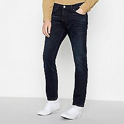Wrangler - Dark Blue 'Larston' Slim Tapered Jeans