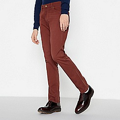 Wrangler - Red 'Greensboro' Straight Jeans