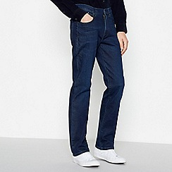 Wrangler - Big and tall dark blue 'Arizona' straight jeans