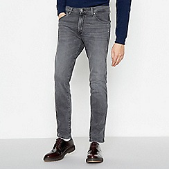 Wrangler - Grey Mid Wash 'Larston' Slim Tapered Fit Jeans
