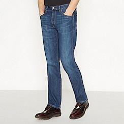 Wrangler - Big and Tall Dark Blue Mid Wash  Arizona  Straight Fit Jeans 64282ca6c1d