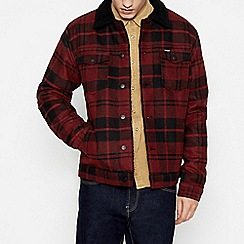 Wrangler - Red Check Trucker Jacket with Wool