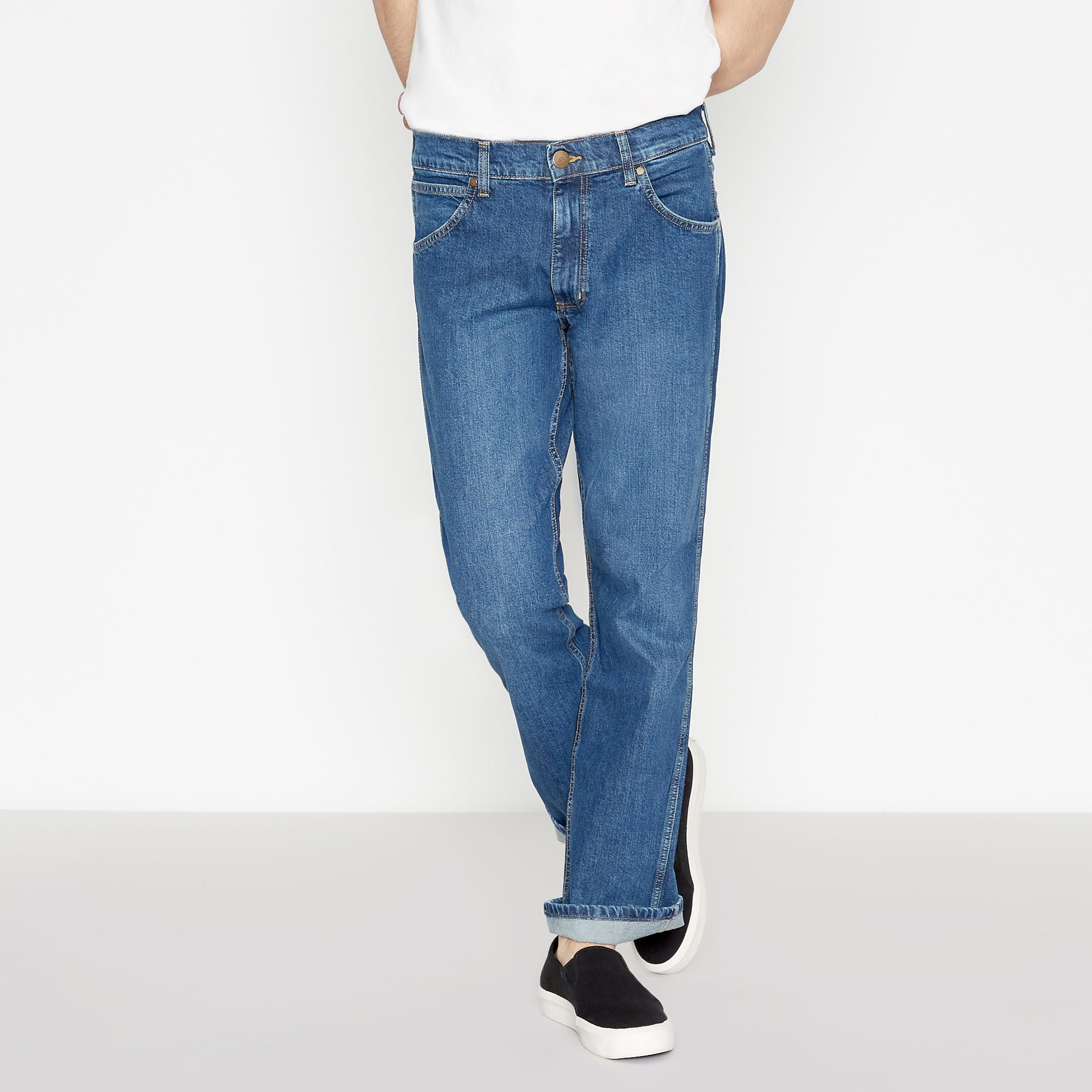8a1c74e17fc Details about Wrangler Men Big And Tall Blue 'Jacksville' Bootcut Fit Jeans