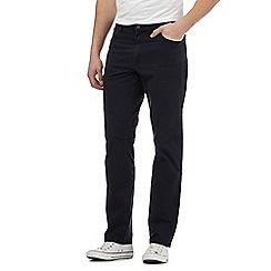 Wrangler - Big and tall navy regular fit leg texas jeans