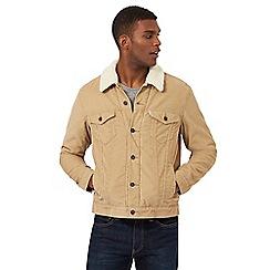 Levi's - Light tan sherpa lined jacket